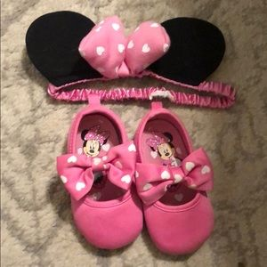 Minnie Headband and Minnie Mouse Crib Shoes